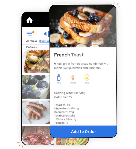 Bring beautiful menus to your customers that have the power of contactless online ording.